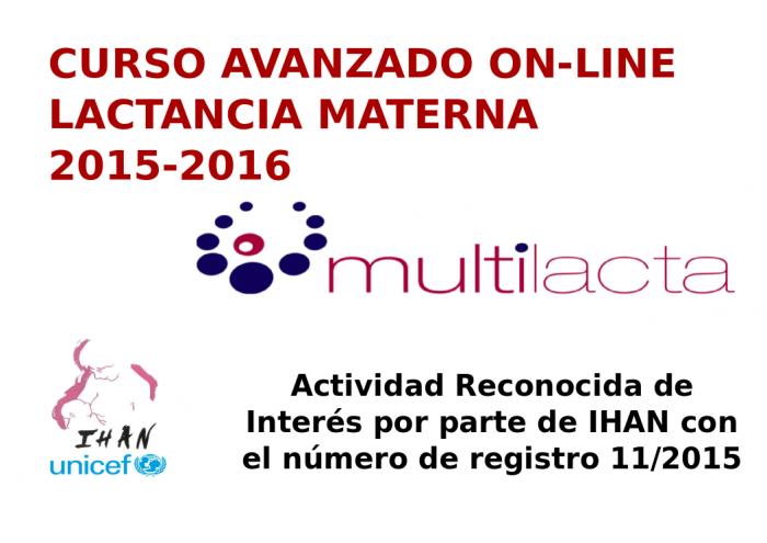 Curso Avanzado On Line de Lactancia Materna 2015