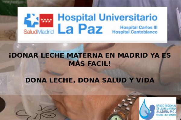 """Ya puedes donar leche materna en el Hospital """"La Paz"""" de Madrid"""